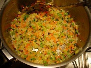 Noix de St jacques aux légumes croquants, sabayon au savagnin réduit : Photo de l'étape 13