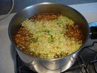Noix de St jacques aux légumes croquants, sabayon au savagnin réduit : Photo de l'étape 4