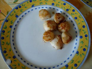 Scallops with fondue of leeks : Photo of step #8