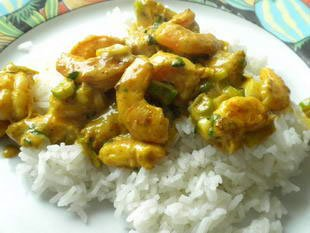 Curry de crevettes express