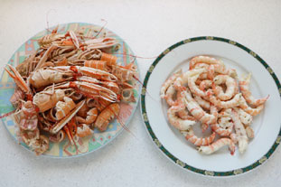 Gratin de queues de langoustines : Photo de l'étape 1