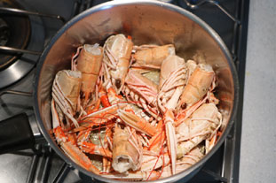 Gratin de queues de langoustines : Photo de l'étape 4