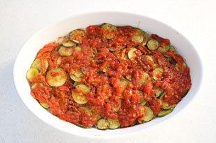 Filet de lieu en gratin de légumes et riz : Photo de l'étape 10