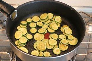 Filet de lieu en gratin de légumes et riz : Photo de l'étape 3