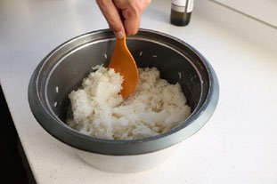 Filet de lieu en gratin de légumes et riz : Photo de l'étape 6