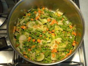 Saumon en papillote aux petits légumes : Photo de l'étape 6