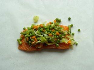 Saumon en papillote aux petits légumes : Photo de l'étape 7