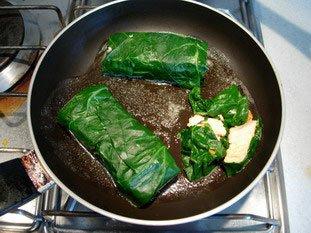 Saumon roulé aux feuilles de bettes : Photo de l'étape 9