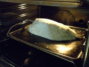 Fish in a salt crust : Photo of step #8