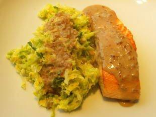 Saumon poêlé au choux vert : Photo de l'étape 11