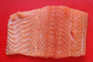 Saumon gravlax : Photo de l'étape 1