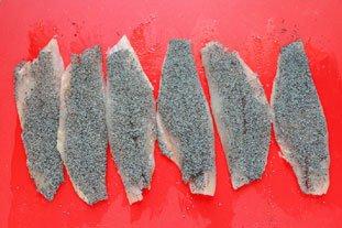 Bouchées de rouget aux graines de pavot : Photo de l'étape 9