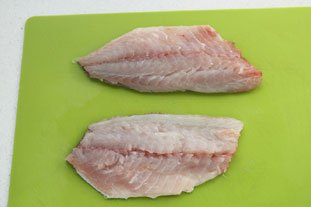 Filet de daurade grillée à la polenta : Photo de l'étape 1