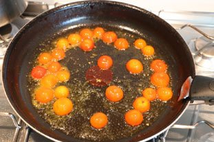 Filet de daurade grillée à la polenta : Photo de l'étape 3