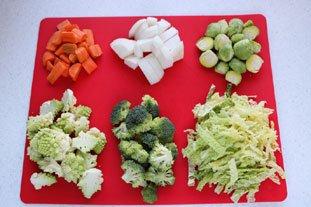 Côte de veau aux petits légumes : Photo de l'étape 1