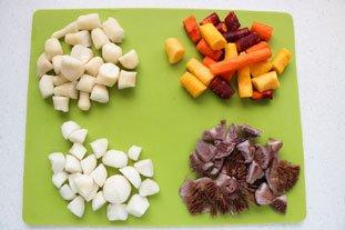 Belle pièce de viande confite et légumes fondants en cocotte lutée : Photo de l'étape 1