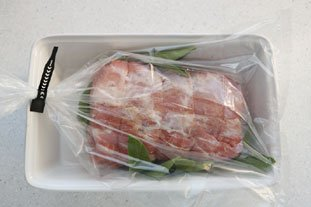 Roast pork with sage, cooked in a bag. : Photo of step #8