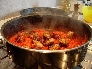 Boulettes de viandes à la tomates : Photo de l'étape 6