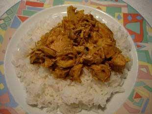 cuisine-facile - poulet au curry express