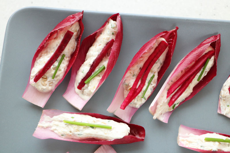 Endives rouges en amuse-bouche