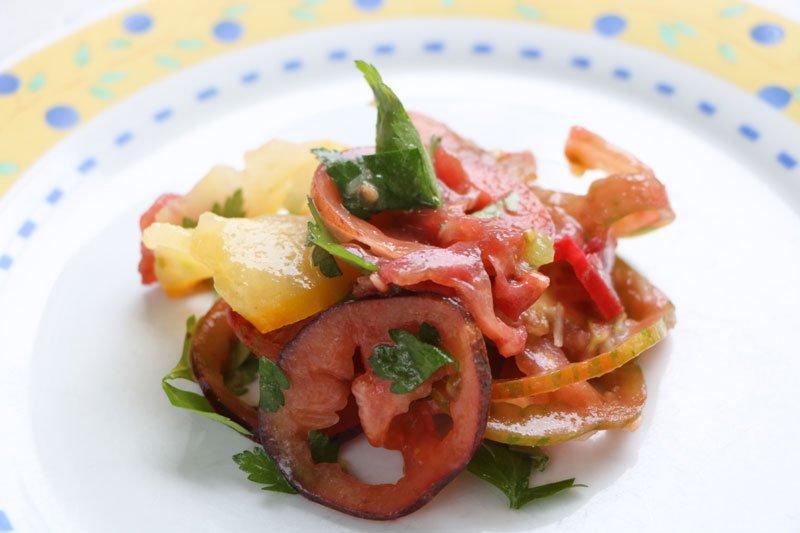 Cuisine salade multi tomates for Cuisine entree facile