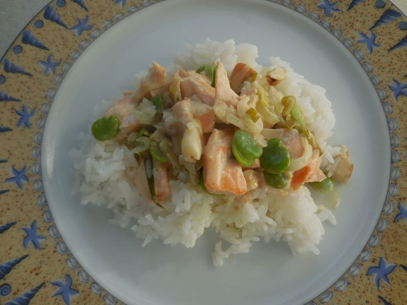 Cuisine petite blanquette de saumon - Cuisine poisson facile ...