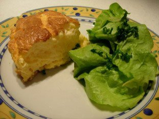 Omelette soufflée au fromage