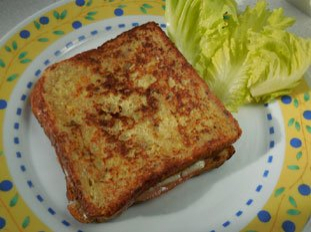 Croque-monsieur complet