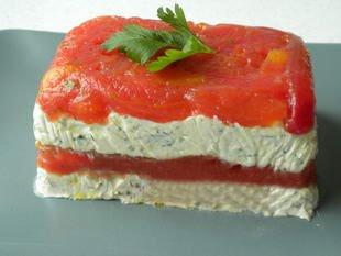 Terrine de tomates aux fromages frais